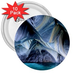 MARBLE CAVES 1 3  Buttons (10 pack)  by trendistuff