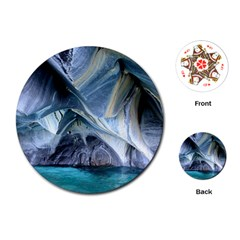 Marble Caves 1 Playing Cards (round)  by trendistuff