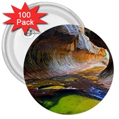 Left Fork Creek 3  Buttons (100 Pack)  by trendistuff