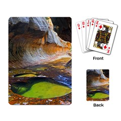 Left Fork Creek Playing Card by trendistuff