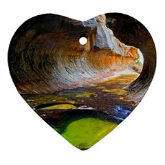 Left Fork Creek Heart Ornament (2 Sides) by trendistuff