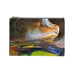 Left Fork Creek Cosmetic Bag (large)  by trendistuff