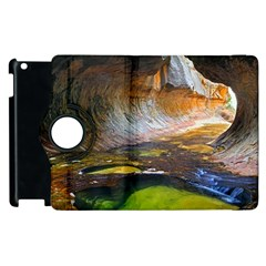 Left Fork Creek Apple Ipad 3/4 Flip 360 Case by trendistuff