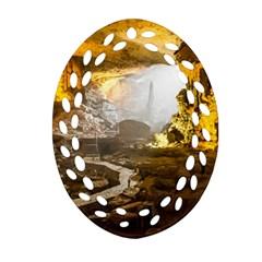 Ha Long Bay Ornament (oval Filigree)  by trendistuff