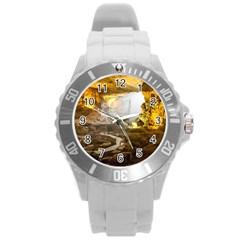 Ha Long Bay Round Plastic Sport Watch (l) by trendistuff