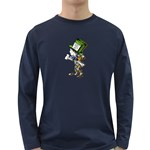 The Mad Hatter Long Sleeve Dark T-Shirts Front