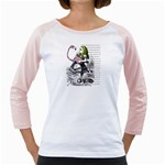 Flamingo Croquet Girly Raglans Front