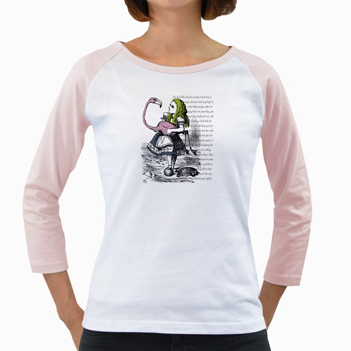 Flamingo Croquet Girly Raglans