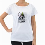 Flamingo Croquet Women s Loose-Fit T-Shirt (White) Front
