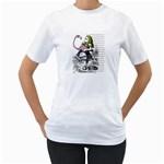 Flamingo Croquet Women s T-Shirt (White)