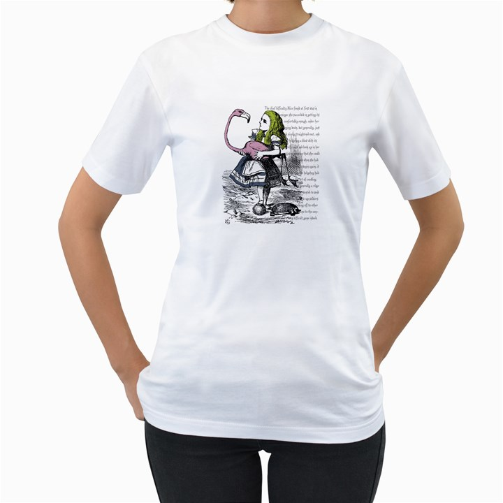 Flamingo Croquet Women s T-Shirt (White)