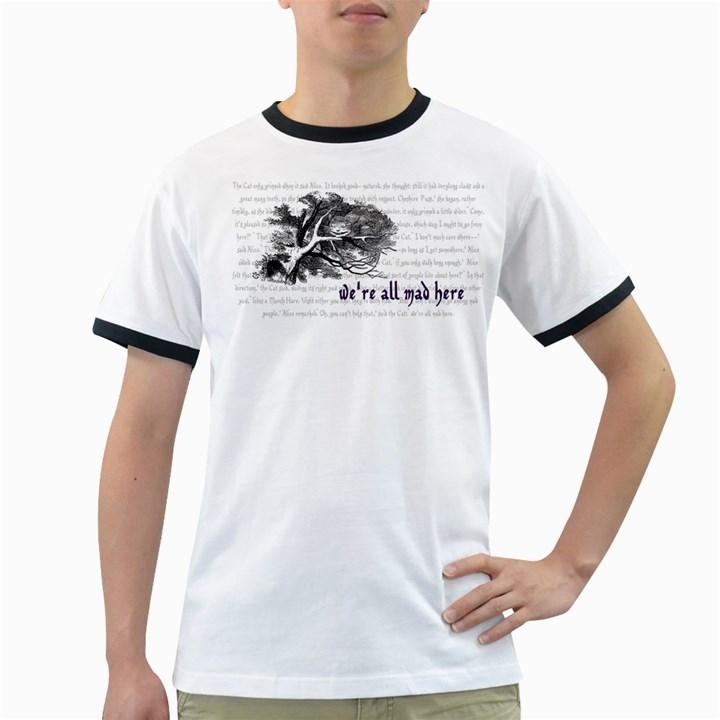 Cheshire Cat Ringer T-Shirts