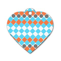 Tribal Pattern Dog Tag Heart (two Sides) by JDDesigns