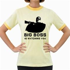 Bigboss Women s Fitted Ringer T Shirts