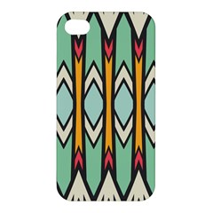 Rhombus And Arrows Pattern			apple Iphone 4/4s Premium Hardshell Case by LalyLauraFLM