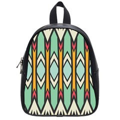 Rhombus And Arrows Pattern			school Bag (small) by LalyLauraFLM