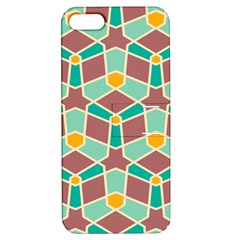 Stars And Other Shapes Patternapple Iphone 5 Hardshell Case With Stand by LalyLauraFLM