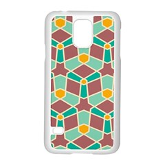 Stars And Other Shapes Pattern			samsung Galaxy S5 Case (white) by LalyLauraFLM
