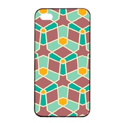 Stars And Other Shapes Pattern			apple Iphone 4/4s Seamless Case (black) by LalyLauraFLM