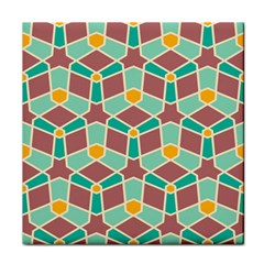 Stars And Other Shapes Pattern			tile Coaster by LalyLauraFLM