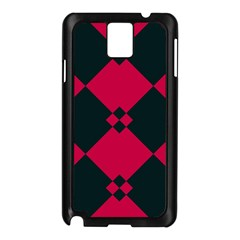 Black Pink Shapes Patternsamsung Galaxy Note 3 N9005 Case (black) by LalyLauraFLM