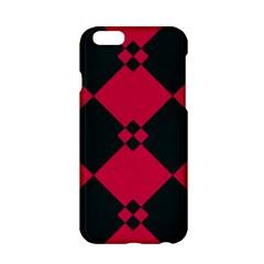 Black Pink Shapes Patternapple Iphone 6/6s Hardshell Case by LalyLauraFLM