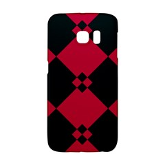 Black Pink Shapes Pattern			samsung Galaxy S6 Edge Hardshell Case by LalyLauraFLM