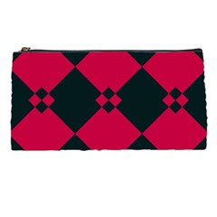 Black Pink Shapes Pattern 	pencil Case by LalyLauraFLM