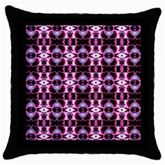 Purple White Flower Abstract Pattern Throw Pillow Cases (black)