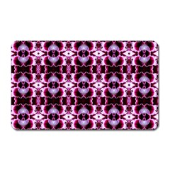 Purple White Flower Abstract Pattern Magnet (rectangular)