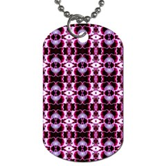 Purple White Flower Abstract Pattern Dog Tag (two Sides) by Costasonlineshop
