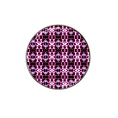 Purple White Flower Abstract Pattern Hat Clip Ball Marker (10 Pack)