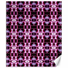 Purple White Flower Abstract Pattern Canvas 20  X 24