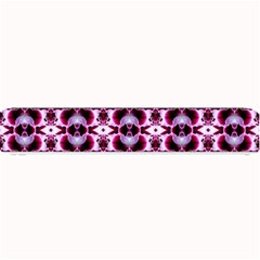 Purple White Flower Abstract Pattern Small Bar Mats by Costasonlineshop