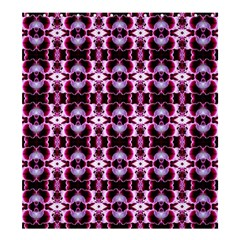 Purple White Flower Abstract Pattern Shower Curtain 66  X 72  (large)