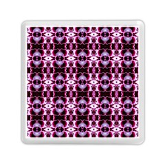 Purple White Flower Abstract Pattern Memory Card Reader (square)