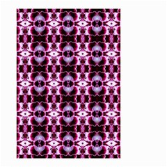 Purple White Flower Abstract Pattern Small Garden Flag (two Sides) by Costasonlineshop