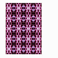 Purple White Flower Abstract Pattern Large Garden Flag (two Sides)