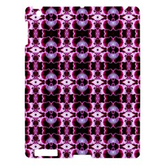 Purple White Flower Abstract Pattern Apple Ipad 3/4 Hardshell Case by Costasonlineshop