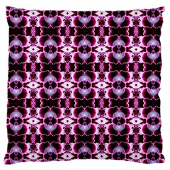Purple White Flower Abstract Pattern Large Cushion Cases (two Sides)
