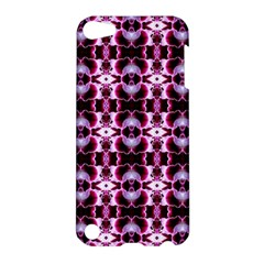 Purple White Flower Abstract Pattern Apple Ipod Touch 5 Hardshell Case