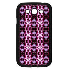 Purple White Flower Abstract Pattern Samsung Galaxy Grand Duos I9082 Case (black) by Costasonlineshop