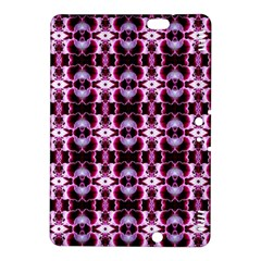Purple White Flower Abstract Pattern Kindle Fire Hdx 8 9  Hardshell Case