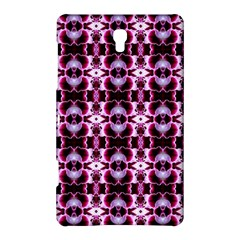 Purple White Flower Abstract Pattern Samsung Galaxy Tab S (8 4 ) Hardshell Case  by Costasonlineshop
