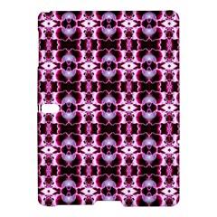Purple White Flower Abstract Pattern Samsung Galaxy Tab S (10 5 ) Hardshell Case