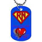 Super RN - Dog Tag (One Side)