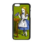Alice In Wonderland Apple iPhone 6/6S Black Enamel Case Front