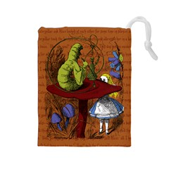 Alice In Wonderland Drawstring Pouches (large)