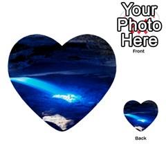 Chapada Diamantina 4 Multi Purpose Cards (heart)  by trendistuff