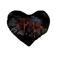 Caves Of Drach Standard 16  Premium Flano Heart Shape Cushions by trendistuff